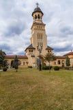 Belltower de la catedral de Arhiepiscopal, Iulia Alba Imagenes de archivo