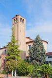 Belltower de la catedral Mestre, Italia Imagen de archivo