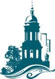 Belltower de la iglesia ilustración del vector