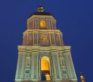Belltower de St Sophia Cathedral em Kiev imagem de stock royalty free