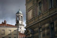 Belltower de Vyborg Imagens de Stock Royalty Free