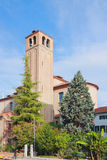 Belltower della cattedrale Mestre, Italia Immagine Stock