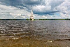 Belltower della st Nicholas Cathedral, Kalyazin, Russia Immagini Stock