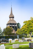 Belltower Delsbo church Stock Photos