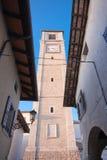 Belltower des Duomo von San Daniele stockfoto