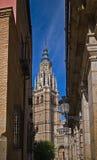 Belltower di Catedral Santa María de Toledo Fotografia Stock Libera da Diritti