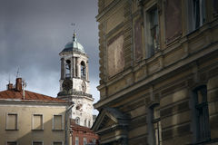 Belltower di Vyborg Immagini Stock Libere da Diritti