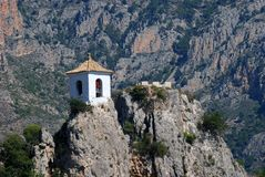 Belltower in Guadalest, Spain Royalty Free Stock Photo