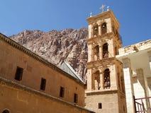Belltower i kloster för helgonCatherine ` s, Sinai Arkivfoton