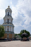 Belltower in Kiev-Pechersk Lavra, Kiev, de Oekraïne Stock Afbeeldingen