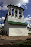 belltower kościół kamienia biel Obrazy Stock