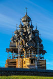 belltower kościelny churchyard wyspy Karelia kizhi preobrazhenskiy Obraz Stock
