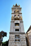 belltower messina sicily Arkivfoton