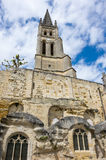 The belltower of the monolithic church Royalty Free Stock Image
