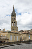 The belltower of the monolithic church Royalty Free Stock Photos