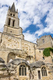 The belltower of the monolithic church Royalty Free Stock Photography