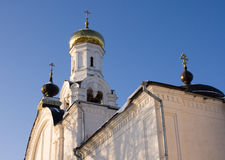 Belltower of Nikolsky cathedral, Rogachevo, Russia Stock Image