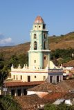 Belltower in the old town Trinidad, Cuba. View from Colonial Art Museum tower Royalty Free Stock Photo