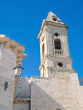 Belltower in oldtown of Bari. Apulia. Royalty Free Stock Images