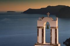 Belltower på solnedgången Royaltyfri Bild