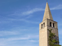 Belltower in Porec Croatia Fotografie Stock