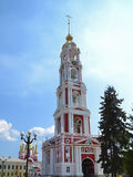 The belltower. Renovated belltower of the Kazan monastery in Tambov Royalty Free Stock Image