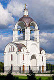 Belltower of Russian orthodox church in Tallinn. Stock Images