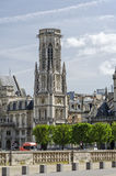 Belltower of Saint-Germain-l'Auxerrois church in Paris, France Royalty Free Stock Image