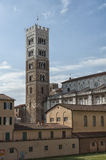 Belltower of San Martino Cathedral in Lucca, Tuscany Royalty Free Stock Image