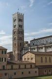 Belltower San Martino katedra w Lucca, Tuscany Obraz Royalty Free