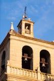 Belltower of Santa Maria de Palacio Church in  Logrono Stock Images