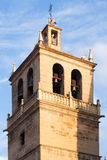 Belltower of Santa Maria de Palacio Church in  Logrono Stock Image