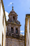 Belltower of Santiago de Compostela cathedral Stock Photography