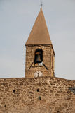 Belltower of SS Trinity, Hrastovlj Stock Image