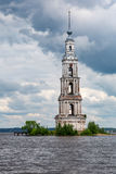 Belltower of the St. Nicholas Cathedral, Kalyazin, Russia Stock Photo