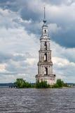 Belltower St Nicholas katedra, Kalyazin, Rosja Zdjęcie Stock