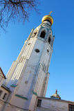 Belltower of St. Sophia Cathedral in Vologda,Russia. VOLOGDA,RUSSIA-SEPTEMBER 20, 2015.Belltower of St. Sophia Cathedral in Vologda,Russia.Has height of 78,5 Royalty Free Stock Photography
