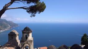 Ravello village, Amalfi coast of Italy stock footage