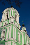 Belltower of Troitse-Tikhvinskaya church, Dmitrov Stock Image