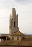 Belltower van de Basiliek van Sant Feliu Stock Afbeelding