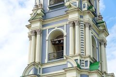 Belltower van de Veronderstellingskathedraal van Tula Kremlin Tula, Rusland stock foto