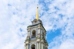 Belltower van de Veronderstellingskathedraal van Tula Kremlin Tula, Rusland stock afbeeldingen