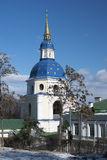 Belltower in Vydubytsky monastery Stock Image