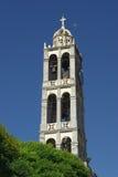 Belltower Of White Stone. The belltower of white stone in Stemnitsa, Greece stock photography