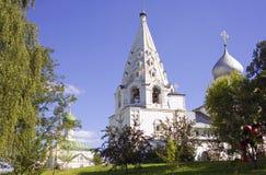 Belltower zalessky de la tienda del monasterio de Pereslavl danilov Imagenes de archivo