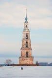 belltower zalewający kalyazin obraz royalty free