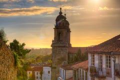 Belltowers of the Monastery of St. Francis, Santiago. De Compostela stock photos