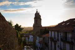 Belltowers of the Monastery of St. Francis, Santiago. De Compostela royalty free stock photo