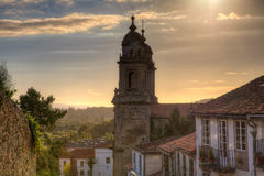 Belltowers of the  Monastery of St. Francis, Santiago Stock Photo