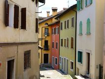 Belluno Historical Street Houses Stock Photography